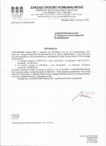 refenecje Zarzadu Zasobu Komunalengo