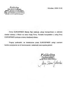 przeprowadzki referencje Felicita