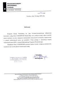 przeprowadzki referencje kolegium europy wschodniej