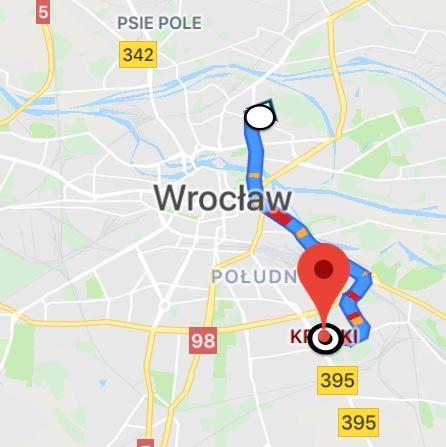 Mapa Krzyki - Ołbin