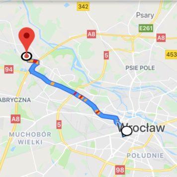 trasa Stare miasto - Maślice